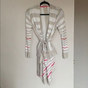 Anthropologie Moth Gradient Striped Cardigan